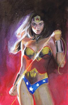 Wonder Woman. Best drawing of WW I've seen. Certainly looks capable.