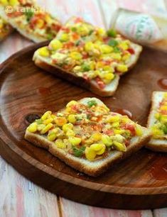 Think beyond plain cheese for your grilled toast. The versatile sweet corn tastes amazing in toast as well. Serve with tabasco sauce to complete the lovely experience.