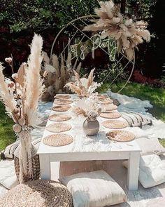 Backyard Birthday, Picnic Birthday, Birthday Parties, 30th Birthday Decorations, Picnic Theme, Garden Party Decorations, Wedding Decorations, Table Decorations, Boho Garden Party