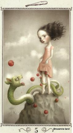 Five of Wands - Nicoletta Ceccoli Tarot by Nicoletta Ceccoli