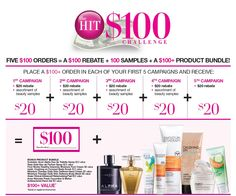 Avon Hit $100 Cash Incentive http://www.makeupmarketingonline.com/avon-hit-100-challenge-cash-incentive/