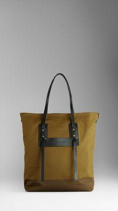 Burberry mens canvas tote bag