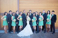 Fun wedding party with Boots and Bouquets by Suzanne M Smith Designs