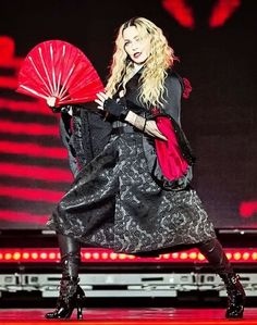 "madonna-madness: "" Madonna performing in Zurich on her Rebel Heart tour on "" Recital, Singer Costumes, Madonna Pictures, Capsule Outfits, Capsule Clothing, Still Love Her, Textile News, Famous Singers, Costume Ideas"