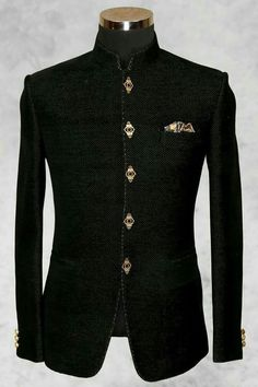 Black outfit for men's Jodhpuri dress