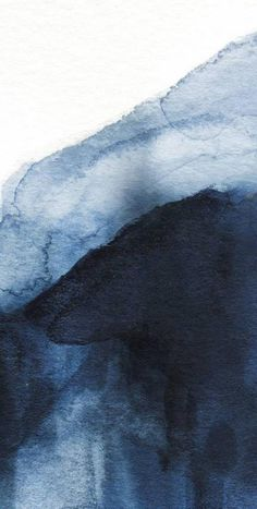 Indigo Wall mural, Painted blue and white wallpaper
