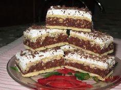 Prajituri de casa: Prăjitura Kati (Caty) Romanian Desserts, Romanian Food, Cookie Recipes, Dessert Recipes, Butter Cookies Recipe, Food Cakes, Diy Food, Sweet Recipes, Cheesecakes