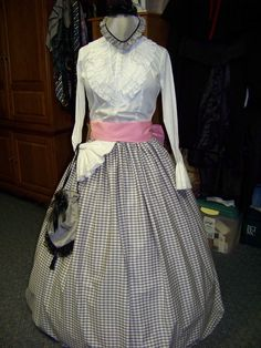Victorian Civil War costume Long SKIRT for camp by civilwarlady