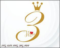 Third birthday SVG, Birthday cut file, Crown SVG cut file, Three SVG cut file, Hearts svg, birthday girl svg, birthday svg file Princess Theme, Third Birthday, Mom And Dad, Cutting Files, Svg File, Card Stock, Hearts, Notes, Child