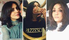 Un castano moka lucido e intenso per Ambra Angiolini, che interpreta alla perfezione una delle tendenze colore più trendy della moda capelli 2017