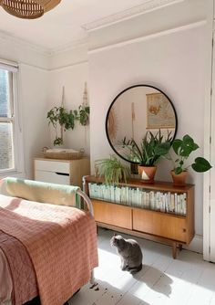 A Renovated London Flat Is Full of Light, Plants, and a Playful Spirit: gallery image 8 Earthy Bedroom, Aesthetic Bedroom, Room London, London Life, Flat Ideas, My New Room, Room Inspiration, Bedroom Decor, Decoration