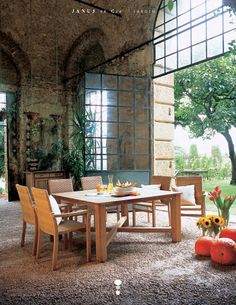 Large steel doors and arches; Janus et Cie Furniture, Outdoor Decor, Devine Design, Traditional House, Italian Farmhouse, Modern Patio Furniture, Patio Furniture, Weathered Furniture, Patio Design