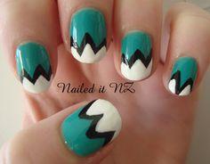 Nailed It NZ: Nail art for short nails #1: Mountain Nails http://nailedit1.blogspot.co.nz/2012/11/nail-art-for-short-nails-1-mountain.html
