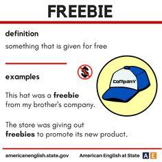Vocabulary: freebie