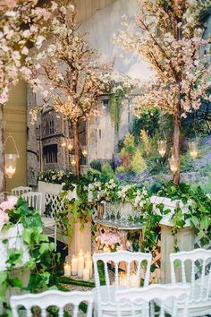 2016 WedLuxe Show Gallery - WedLuxe Magazine Forest Wedding Decorations, Forest Wedding Venue, Wedding Stage, Enchanted Forest Prom, Enchanted Garden, Indoor Wedding Receptions, Wedding Venues, Wedding Ideas, Wedding Photo Booth Props