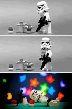 LEGO Star Wars. This was pretty much how it went. We found all of the dance floors and spent half the time playing around.