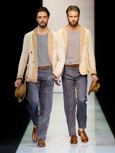 Giorgio Armani Menswear Collection for Spring/Summer 2013 Armani Men, Giorgio Armani, Mens Fashion, Fashion Trends, Style Me, Menswear, Spring Summer, Formal, Collection