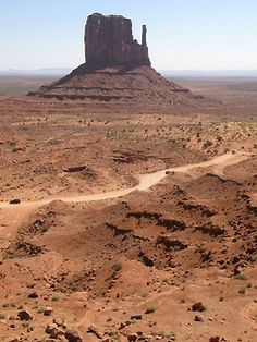 One of the Mittens in Monument Valley, Utah