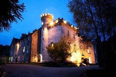 Tulloch Castle,Dingwall, Scotland,  is actually thought to have many ghosts - but the most-sighted ghost, and the ghost most talked about, is the Green Lady. She has been sighted so frequently, the bar in the castle is actually named the Green Lady Bar and a portrait of the lady believed to be the Green Lady, Elizabeth Davidson, hangs in the Great Hall.