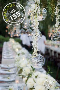 Fabulous Idea No. 155: Attach the candleholder to the end of a vine or garland with monofilament and insert a tealight.