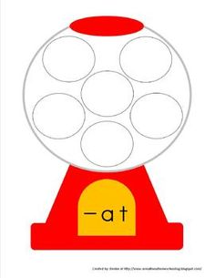 Gumball Word Families--  These are the word families included:  -at, -an, -ip, -ig, -it, -ot, -op, -ug, -ad, -ap, -ut, -et, -ill, -all, -ice   only two dollars from TeachersPayTeachers