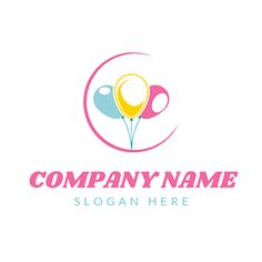 DesignEvo's event logo maker is the best tool for you to design wonderful event logos like a pro. Try to customize stunning event logo templates for free now. Logo Maker, Company Names, Company Logo, Balloon Logo, Balloon Company, Event Logo, Online Logo, How To Make Logo, Helium Balloons