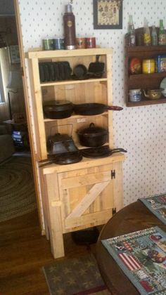 small country hutch from recycled pallets Visit,Like and Shop our Facebook page https://www.facebook.com/RusticFarmhouseDecor