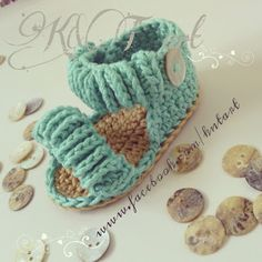 """The difference is in the details"": Baby crochet sandals Tutorial ♡ Teresa Restegui http://www.pinterest.com/teretegui/ ♡"