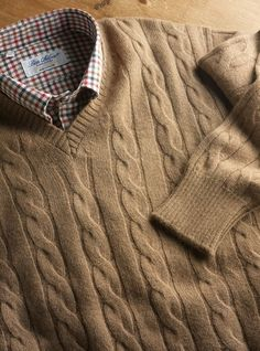 Camelhair Cable Knit Pullover