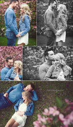 Pinning for the bottom picture 👌🏽 Engagement Photo Poses, Engagement Shots, Engagement Pictures, Engagement Photography, Wedding Pictures, Wedding Photography, Spring Photography, Engagement Ideas, Couple Pictures