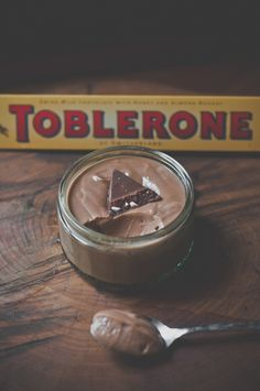 Toblerone Delight-substitute mascarpone for quark Mini Desserts, Just Desserts, Delicious Desserts, Dessert Recipes, Yummy Food, Cocoa Recipes, Chocolate Recipes, Sweet Recipes, Toblerone
