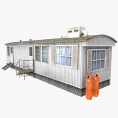 trailer container c4d
