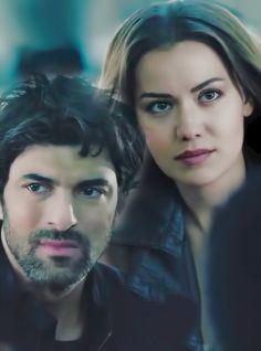 Engin Akyurek as Dağhan and Fahriye Evcen as Selvi in the Turkish TV series Ölene Kadar, 2017.