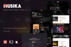 Musika - Music Festival Template by templaza on @creativemarket
