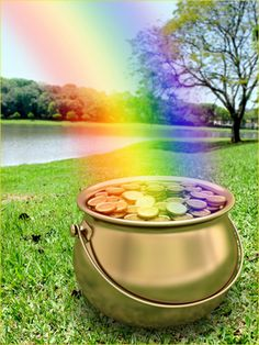 thk:  at the end of the rainbow.............Pot of Gold