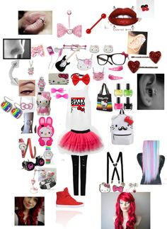 """""""hello kitty outfit"""" by trifoldtrouble on Polyvore"""