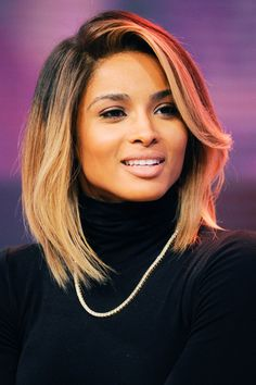 She usually prefers the blonde ombre hair color. Their natural hair color is dark brown. Hair color formula: The base of hair brown. Hair tips pale yellow. Love Hair, Great Hair, Gorgeous Hair, Weave Hairstyles, Pretty Hairstyles, Ciara Hairstyles, Hairstyle Ideas, Hair Inspo, Hair Inspiration