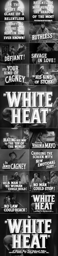 White Heat (1949) trailer typography  #filmnoir #1940s