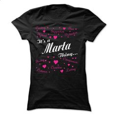 MARTA THING AWESOME SHIRT - #tee spring #tshirt art. PURCHASE NOW => https://www.sunfrog.com/LifeStyle/MARTA-THING-AWESOME-SHIRT-Ladies.html?68278