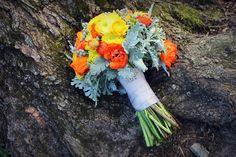 Yellow, Orange, and Grey Bouquet