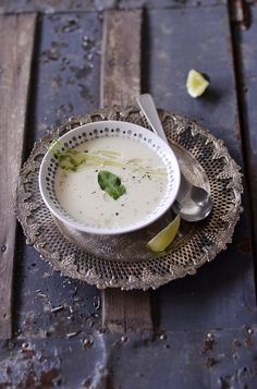 Chilled Cucumber-Apple Soup - this sounds so appealingly refreshing come the dog days of summer. #food #soup