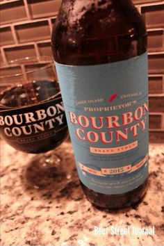 Goose Island Proprietor's Bourbon County Stout. Brewed with coconut, aged in rye whiskey barrels. 14.1% ABV  http://www.beerstreetjournal.com