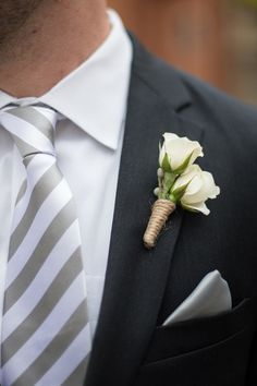 Mini Rose #Boutonniere I Ben Elsass Photography I http://www.weddingwire.com/wedding-photos/real-weddings/illinois-fall-art-center-wedding/i/5b77527c35327c6a-98367c99ee78e50a/d467805b9c62763a