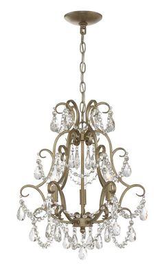 """Craftmade 1133C Mini 3 Light 16"""" Wide Single Tier Chandelier Gold Twilight Indoor Lighting Chandeliers"""
