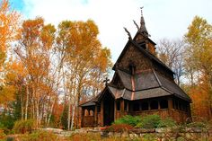 The Stavkirke (church) on Washington Island was built to celebrate Door County's Scandinavian heritage. You may stumble upon this beautiful piece of architecture during a hike around the island.