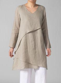 linen asymmetrical tunic