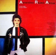 New wave, essa época linda, até mesmo a iugoslava Artistička radna akcija toda trabalhada no Mondrian!