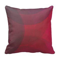 Abstrakte rote zeitgenössische Formen Kissen
