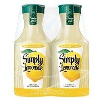 Simply Lemonade® Twin Pack - Liter Bottles: You'll never have to make your own lemonade again. Simply Lemonade is a refreshing alternative to homemade lemonade. Lemonade Tea Recipe, Passion Tea Lemonade, Homemade Lemonade, Tea Recipes, Summer Recipes, Gourmet Recipes, Gourmet Food Store, School Snacks, Food Lists