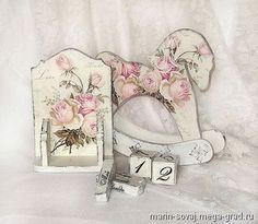 Вечный календарь шебби шик ' Розовый зефир' - шебби шик, необычные принадлежности для дома и интерьера. МегаГрад - город мастеров